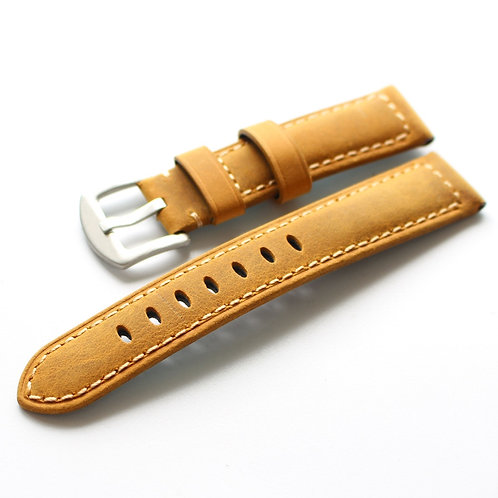 20MM 22MM Genuine leather yellow man strap