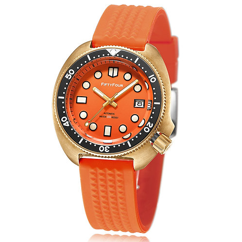 Orange bronze diver watch 30ATM mechnical movt