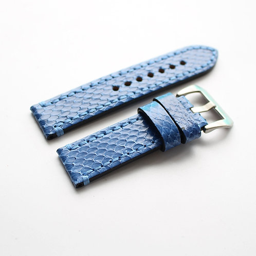 Blue Python Leather strap 20MM 22MM 24MM 26MM