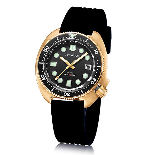 Black Bronze watch 44mm turtle man diver watch
