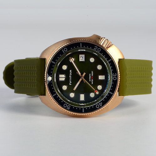 Bronze 6105 green submarine NH35A mechnical movt