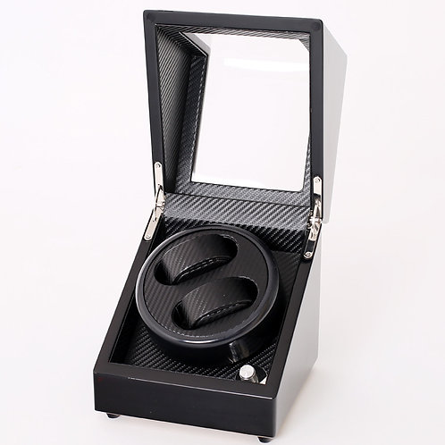 2+0slot mechnical watch winder Piano wood carbon decoration