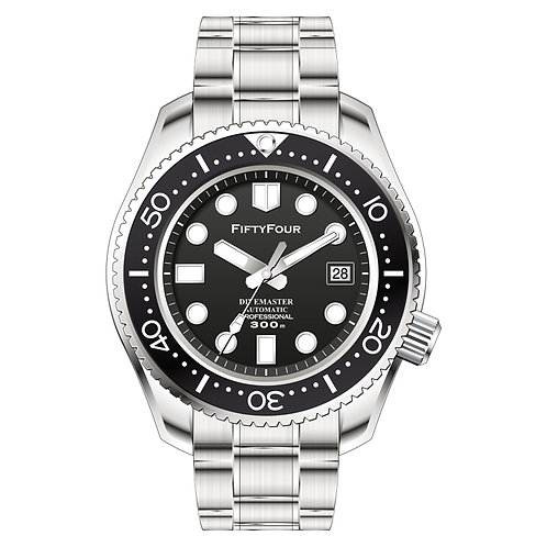 Black Divemaster Automatic MM300 Marinemaster Homage 44mm
