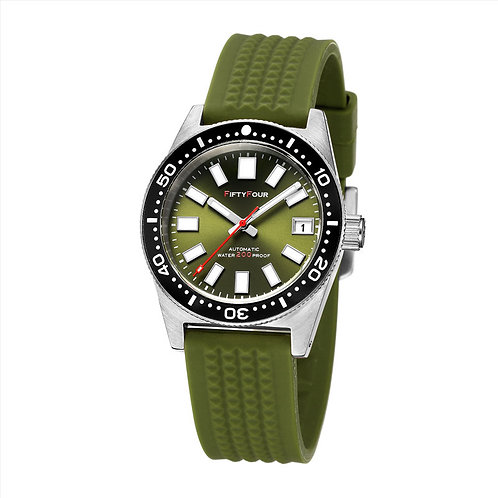 SLA017 homage reissue NH35A Green dial waffle strap