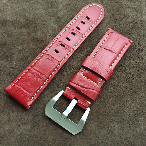 Red 22MM 24MM 26MM Panerai strap