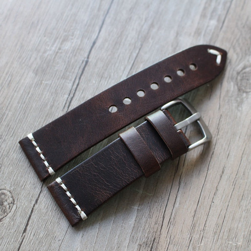40f489e65289c 18mm 20mm 22mm 23mm Darkbrown vintage strap handmade Italy leather band