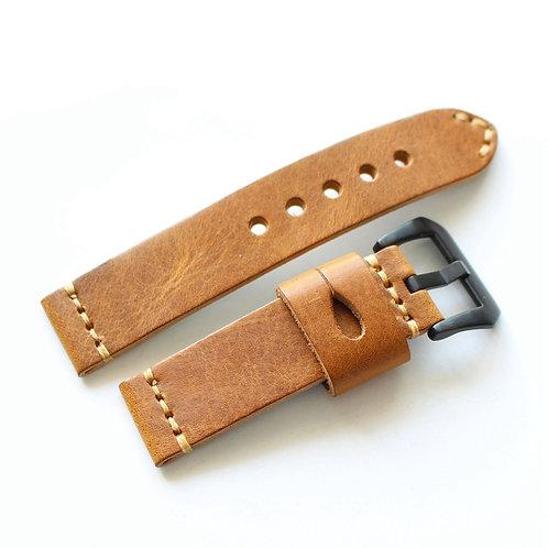 22mm Beidge Panerai strap handmake genuine leather 125+75mm