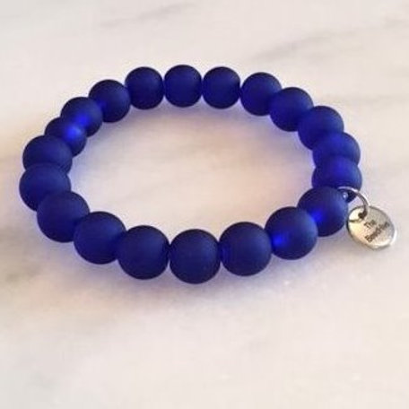 10mm frosted glass: Cobalt  Blue