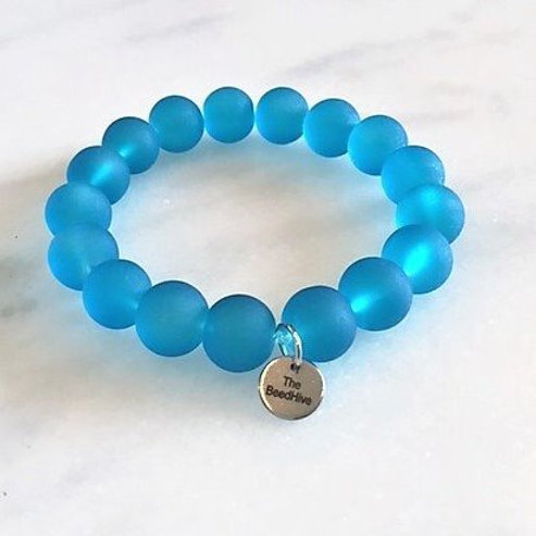 12mm frosted glass: Turquoise Blue