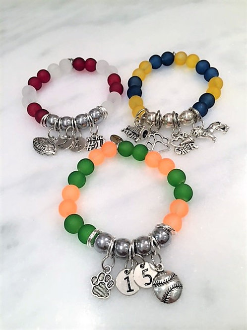 Double Checker with signature sport/initial/or number charms