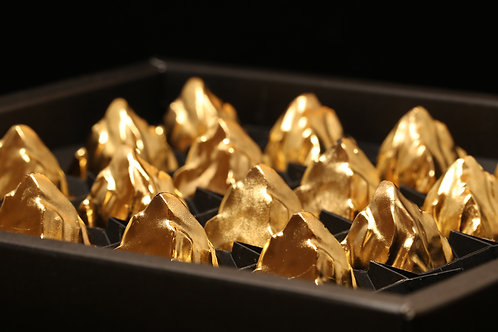 9 chocolates covered 24-carat edible gold