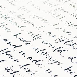 Huwelijkse geloften op handgeschept papier