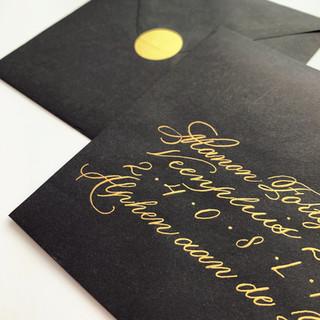 Gekalligrafeerde enveloppen