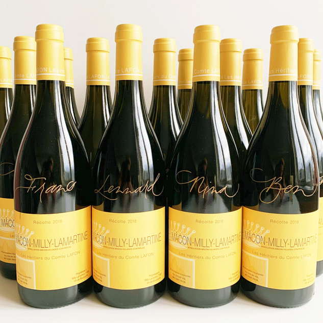 Gepersonaliseerde wijnflessen