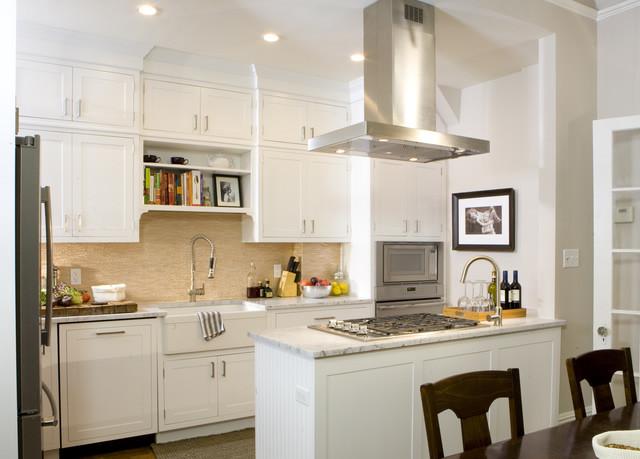Белая кухня - путь увеличения пространства: лучшие идеи!