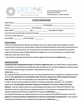 Weight Loss Registration Form image