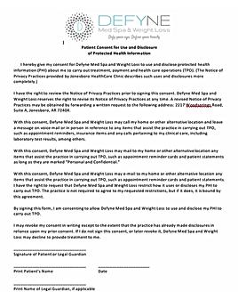 HIPAA Form image
