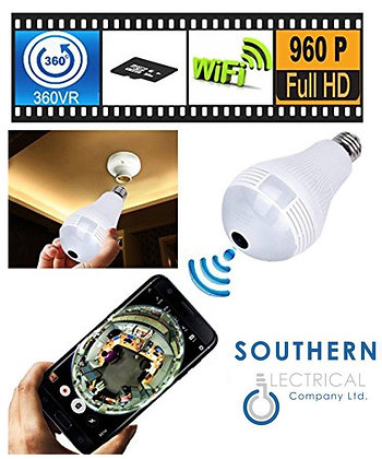 E27 LED Bulb spy Cam 360 degree Wireless