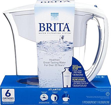 Brita atlantis water filtration pitcher white