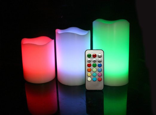 LED Flameless Moon Candles color changing