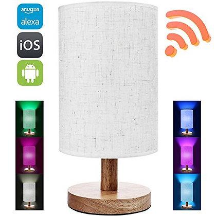 Amazon Alexa Smart wood table lamp