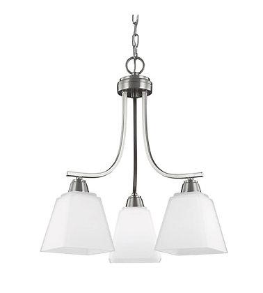Seagull 3213003-962 light chandelier brushednickel