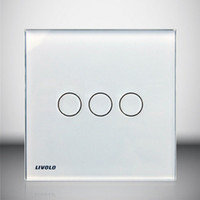 Livolo fullmoon touch switch 3 Gang white