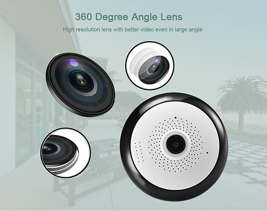 Panoramic 1080P 3.0MP WIFI Camera