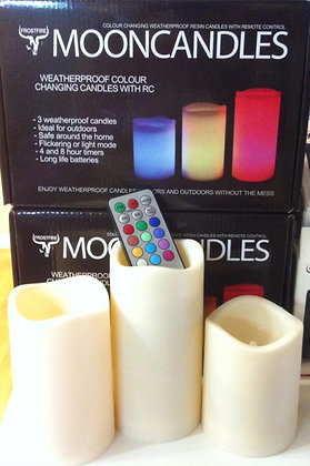 WAX LED Moon Candles color changing