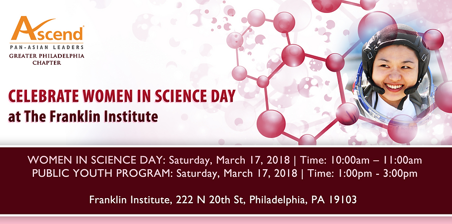 PHL Women in Science Mar 17, 2018 banner