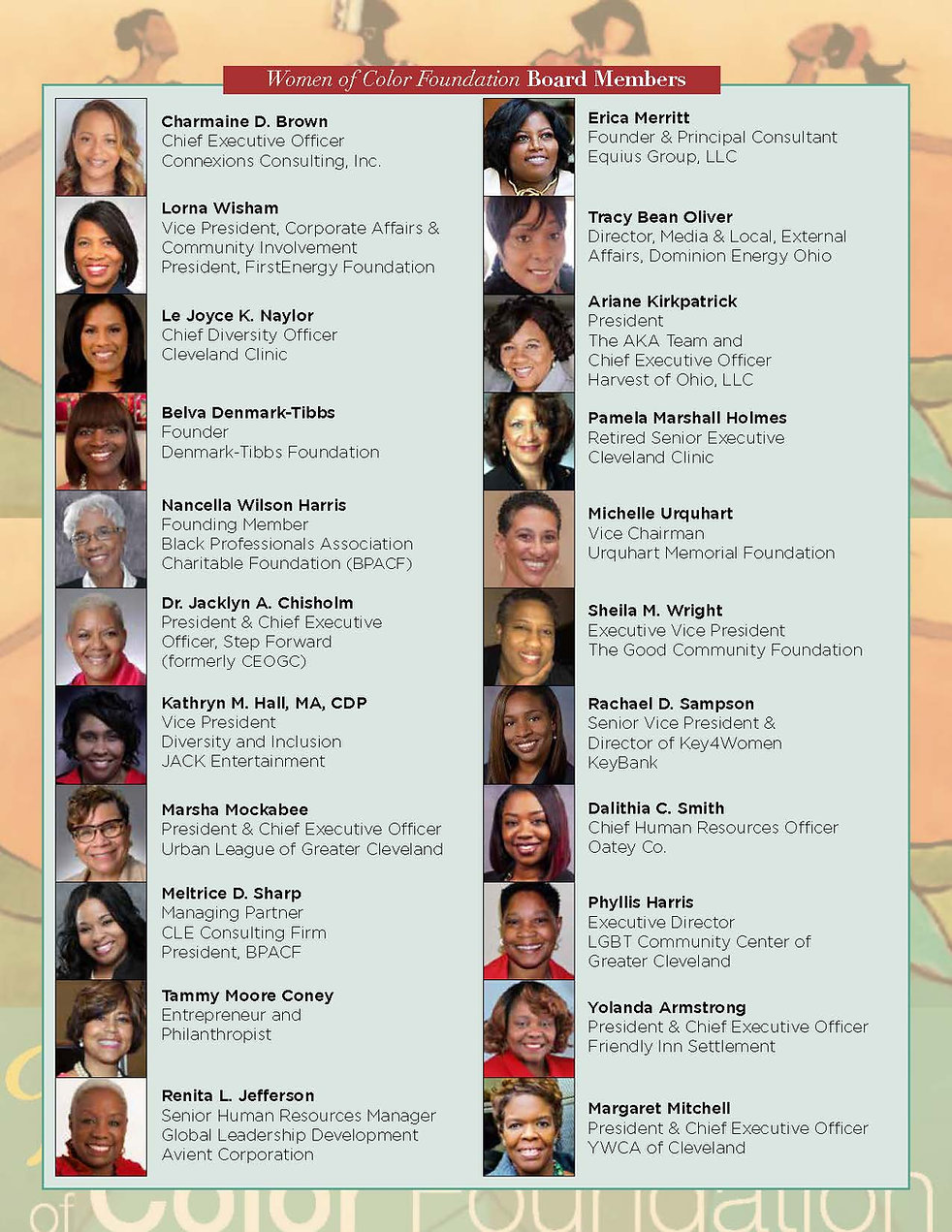 Women of Color Foundation 2021-2022 Boar