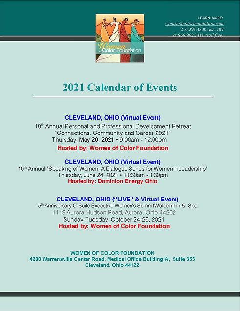 2021 Women of Color Foundation Calendar