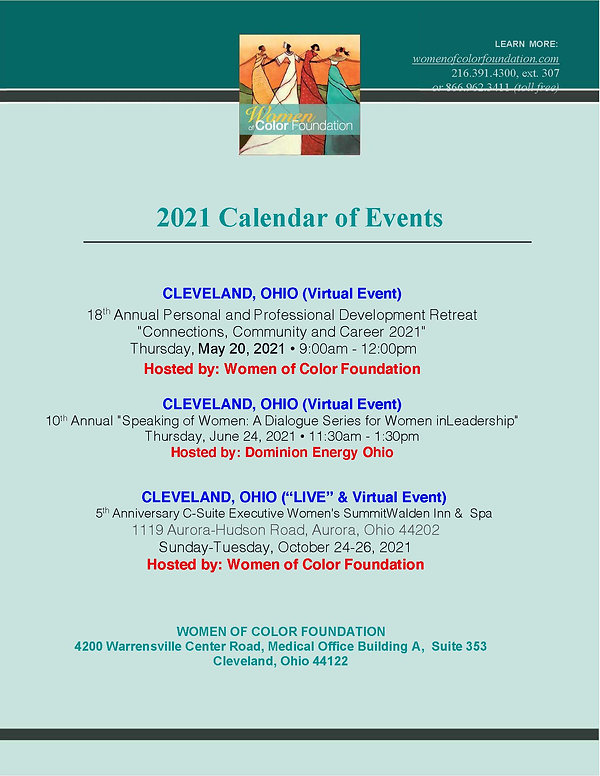 2021 Women of Color Foundation Calendar
