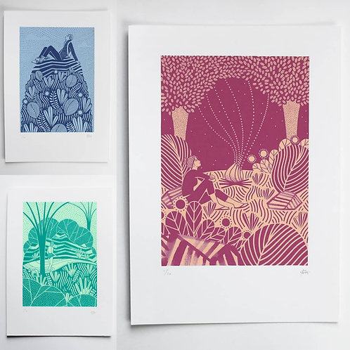 THE ADVENTURERS PRINT COLLECTION - SET OF 3