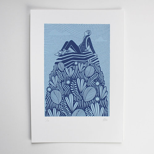 THE ADVENTURERS MOUNTAIN SCREEN PRINT