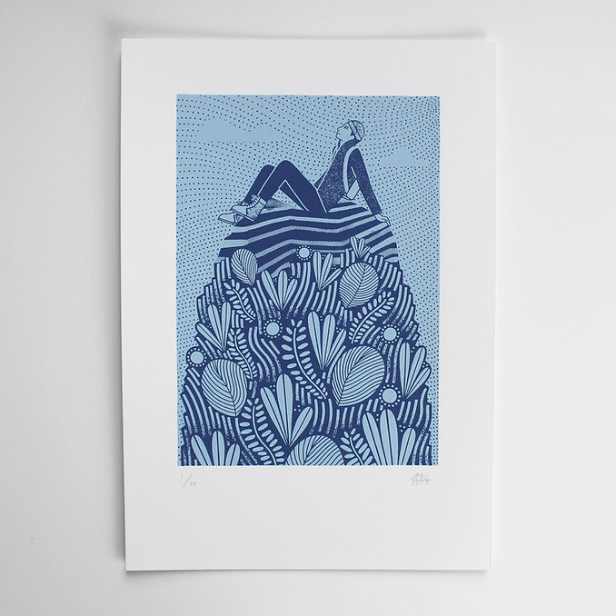 Laurie Hastings Mountain Screen Print