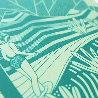 Laurie Hastings Rainforest Screenprint
