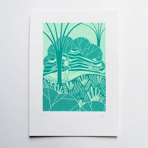 THE ADVENTURERS RAINFOREST SCREEN PRINT