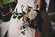 loose style handtied wedding bouquet