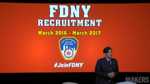 FF Regina Wilson Announces FDNY Recruitment Campaign at 2016 Makers Conference