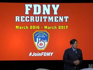 FF Regina Wilson Announces FDNY Recruitment Campaign at 2016 Makers Conference