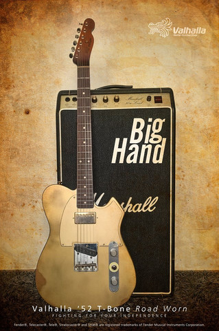 Valhalla '52 T-Bone Road Worn 'Big Hand'