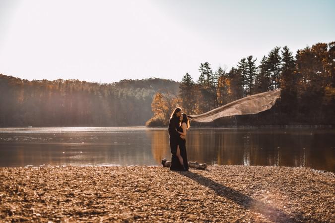 Morgan + Ian's Lake-Side Elopement