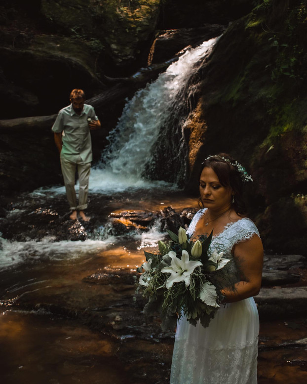 Chris + Christina's Waterfall Vow Renewal