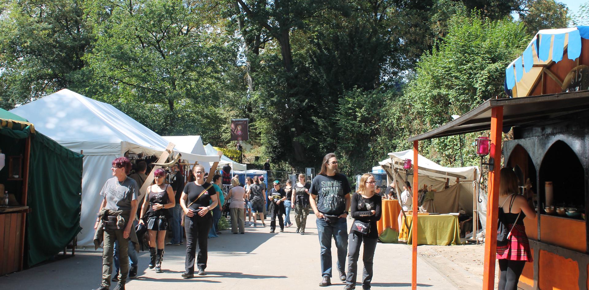 Mittelaltermarkt hintere Seite