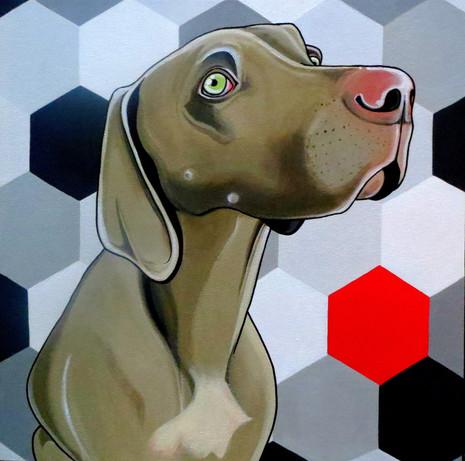 "Custom order-pet portrait 20 x 20"""