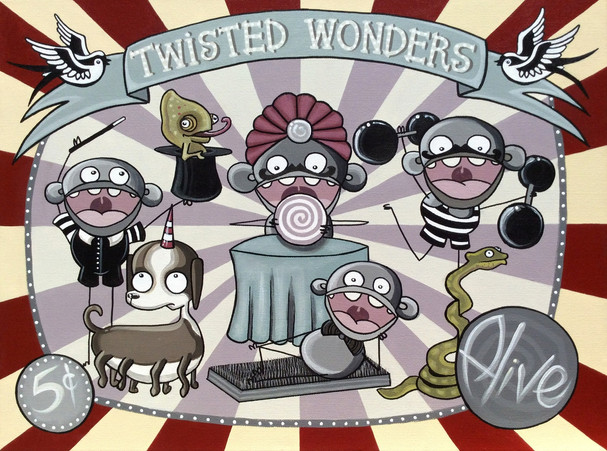 "Twisted Wonders 18 x 24"" *Available*"