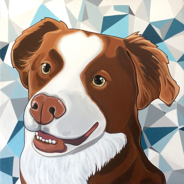 Custom order-pet portrait 20 x 20""