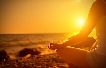 image of girl on beach | yoga retreat in gozo