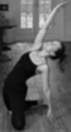 Szilvia Gardian in a Yoga Pose